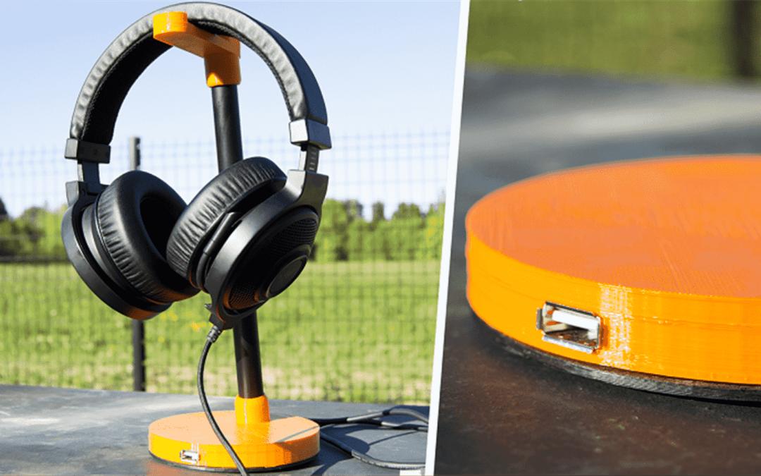 Fabriquer un support casque – Hub usb